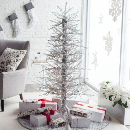 5ft Silver Tinsel -Twig Christmas Tree by Sterling Tree Company