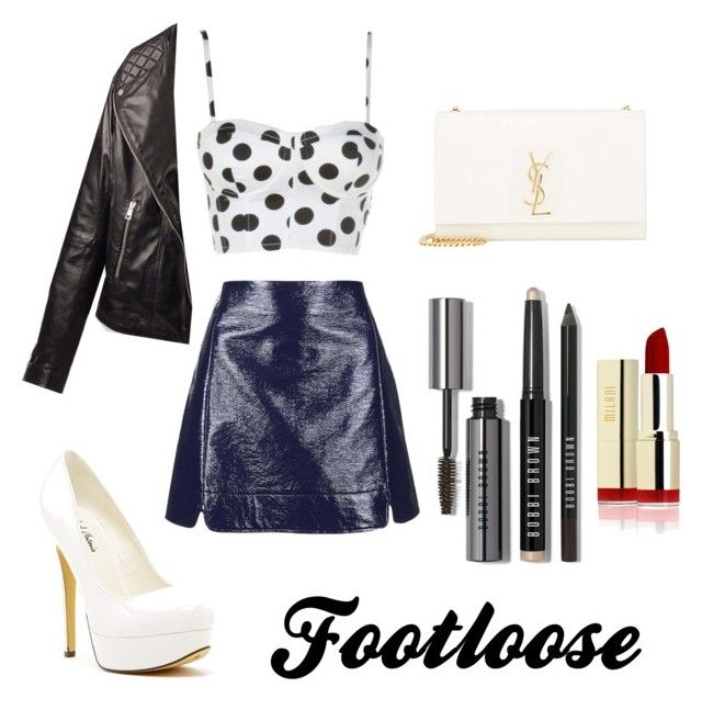 Footloose by fourleafclover011 on Polyvore featuring polyvore, fashion, style, Topshop, Yves Saint Laurent, Bobbi Brown Cosmetics and Michael Antonio