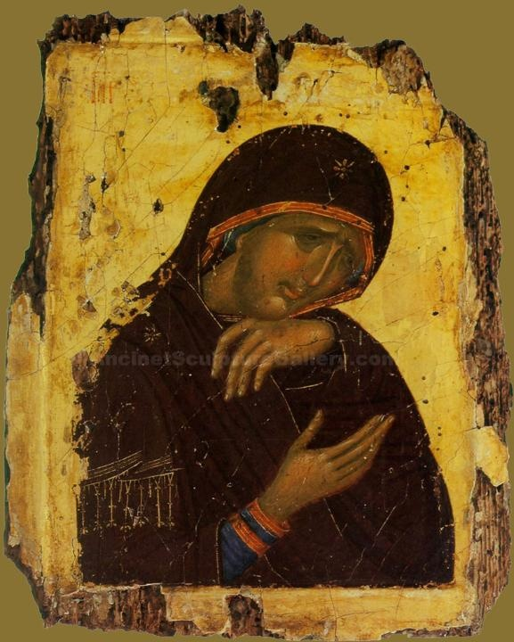 Byzantine icon  Why has Theotokos got no precious incarnate Jesus????