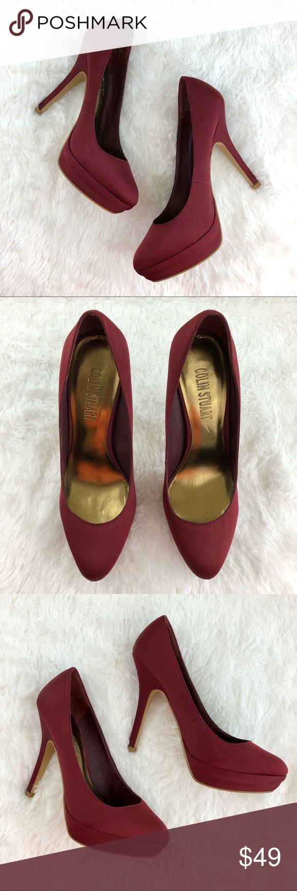 Colin Stuart Satin Platform Heel Colin Stuart satin platform heel. Minimal wear. Small scratch on side of each shoe and light scuff on rear side of left shoe - see pictures. Otherwise in excellent condition. Colin Stuart Shoes Heels
