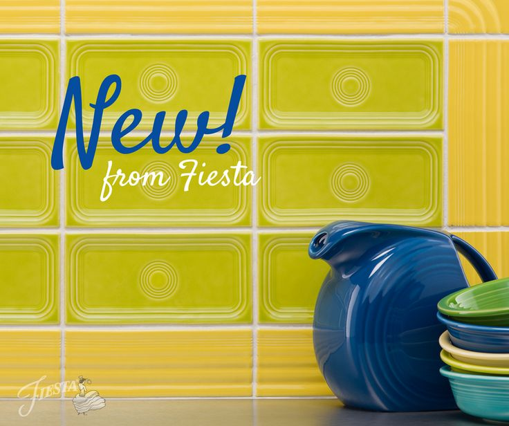 We have big news for all those who can't get enough Fiesta in their kitchens. We've teamed up with Limelight Tile and Ceramics to make Fiesta PorcelainTiles! These porcelaintiles will be available in Spring 2017 in 14 of the 15current Fiesta colors (with Shamrock coming soon)! Tiles are made in USA and you will be…