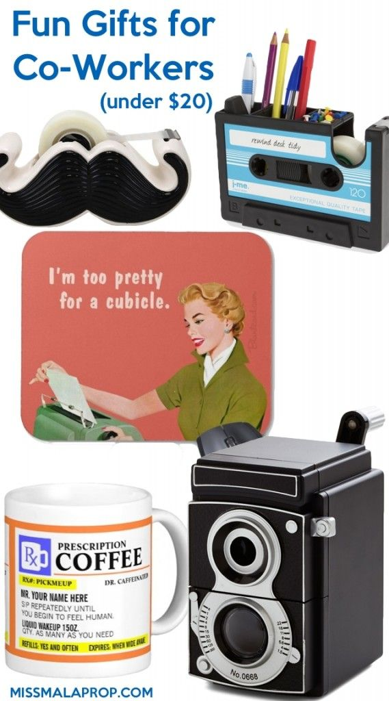 Gifts for Coworkers Under $20 http://www.giftideascorner.com/gifts-coworkers/