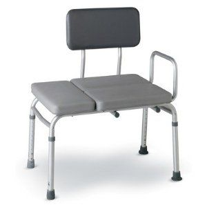 Deluxe-Padded Transfer Bench Quantity: Case of 2 by Medline. $149.62. Model No.-MDS86945P. Side arm provides extra stability and leverage.. This Listing Is For Push Button Padded Transfer Benches.. Weight capacity is 300-lbs. (136 kg) with an adjustable seat height.. Padded seat ideal for long-term use.. MDS86945P Quantity: Case of 2 Features: -Deluxe-padded transfer bench.-Available in case of 2 and 1 each quantities.-Anodized aluminum frame.-Comfortable, 2'' cushioned seat an...