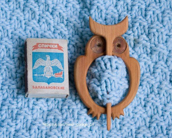 barrette, brooch, fibula Owl. Wood: Juniper