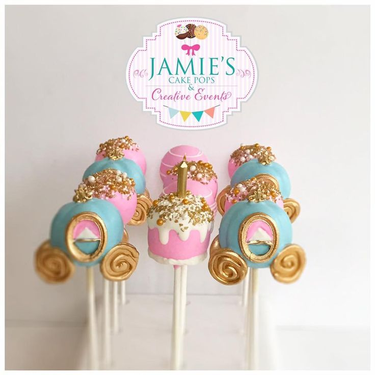 Cinderella Birthday Party Cake Pops The Iced Sugar Cookie Jamie's Cake Pops And Creative Events