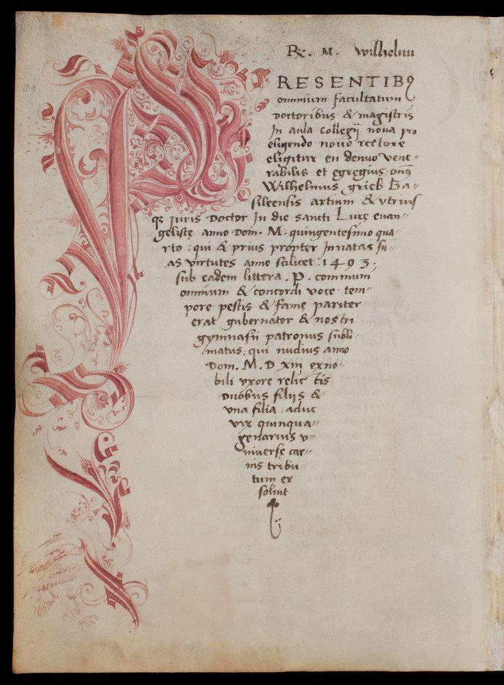 Rektoratsmatrikel der Universität Basel, Band 1 AN II 3 Basel/Schweiz nach 1460 Folio 111v