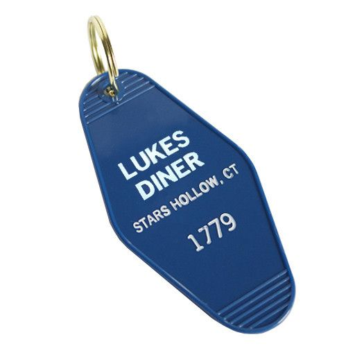 """Any Gilmore Girls fan would love this key tag from the genius that is New York'sGreenwich Letterpress. Measures 1.75"""" wide x 3.5"""" tall. Blue plastic tag that's"""