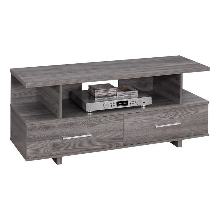 TV Stand with Drawers - Grey - EveryRoom, Gray