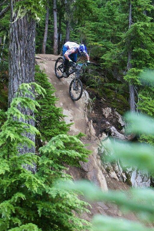 Whistler mountain bike park. Nice drop off!!