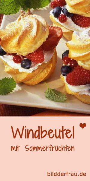 Luftig-leicht und süß: die besten Windbeutel-Rezepte http://www.bildderfrau.de/rezepte/windbeutel-rezepte-d60305c673380.html  #Windbeutel #kuchen
