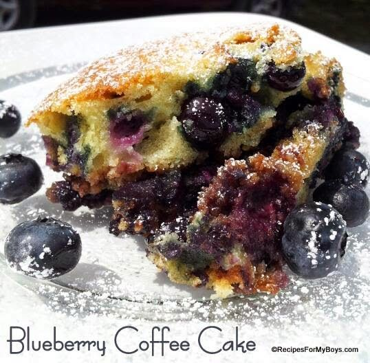 Recipes For My Boys: Blueberry Coffee Cake with Cinnamon Pecan ...