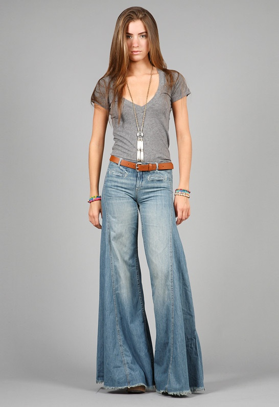 "bell bottoms from the 70""s.  We used to buy them at the army surplus store.  I think they were about $12.00."