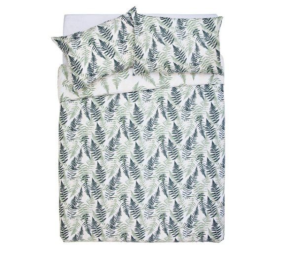 Argos Home Green Fern Print Bedding, Grey King Size Bedding Argos