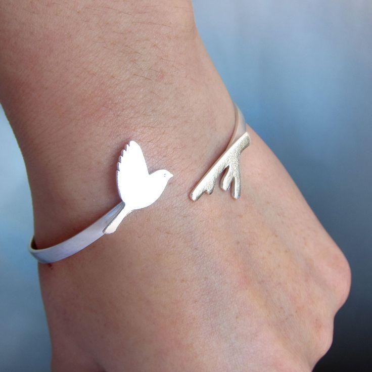 Image of Flying Bird Bracelet - Handmade Sterling Silver Bracelet