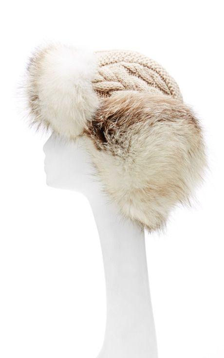 INVERNI Cashmere Trapper With Fox Fur
