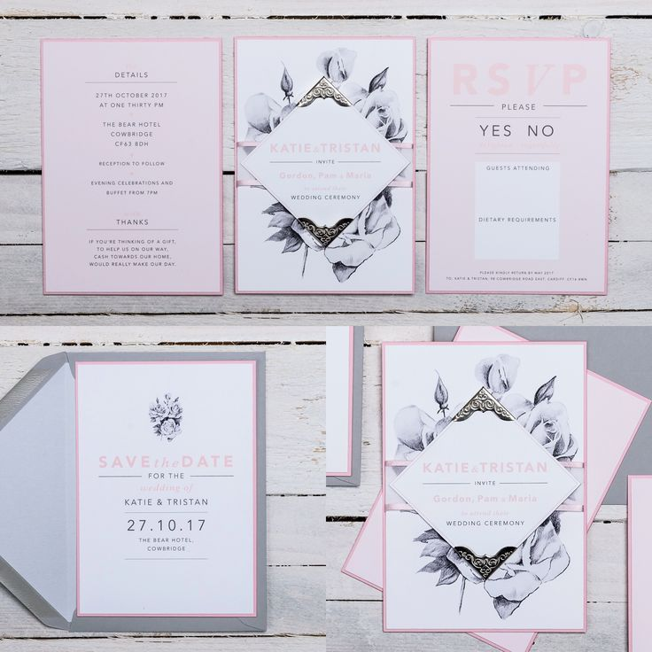 ROSY SKETCH Wedding Stationery Collection. Available in ANY COLOUR!  Decorated with stunning hand drawn roses, metal corner covers and ribbon banners, 'Rosy Sketch' is nothing but lavish and grand. Simple fonts and organised text, ensures a crisp and clean finish so details look delicately ornate and not overpowering. It's a classic beauty.  If you have any questions or to find out about the available products in this collection and their prices, please visit the website.