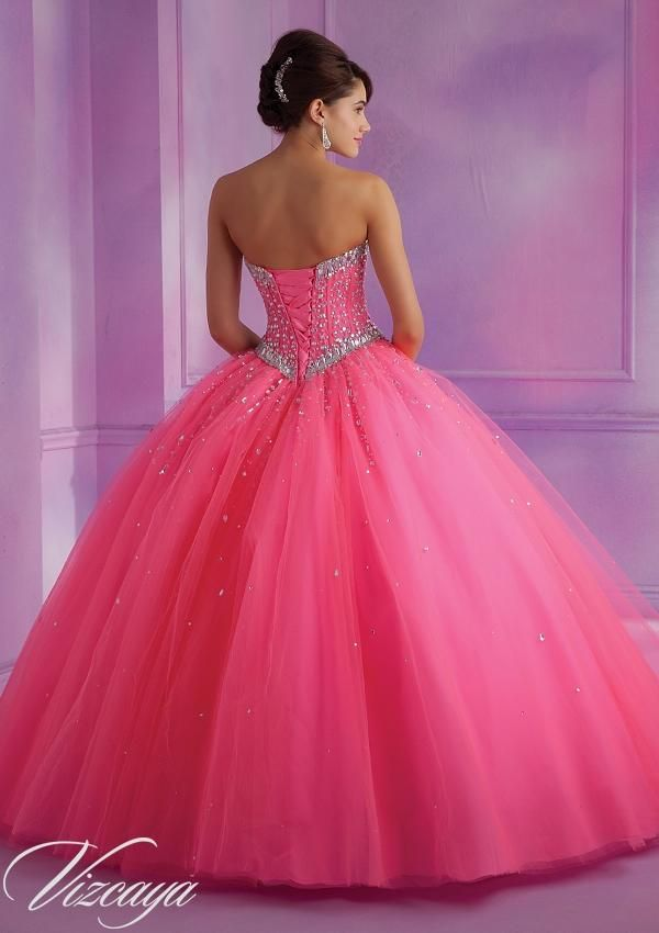 Quinceanera dresses by Vizcaya 89012 Tulle Quinceanera Gown with ...