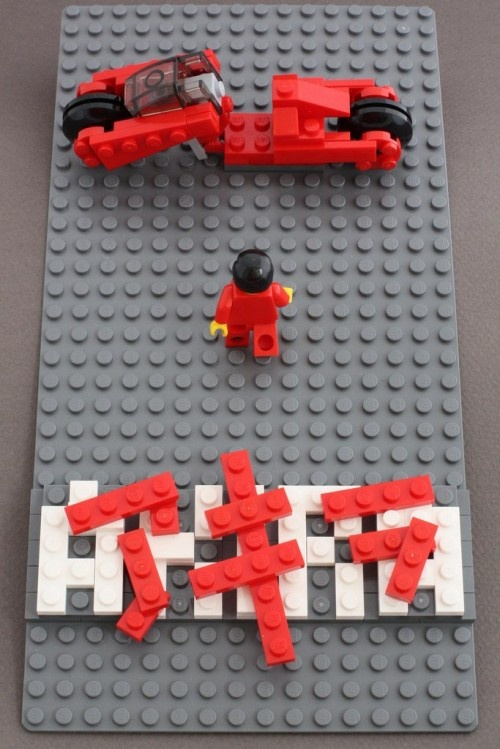 AKIRA poster made of LEGO.