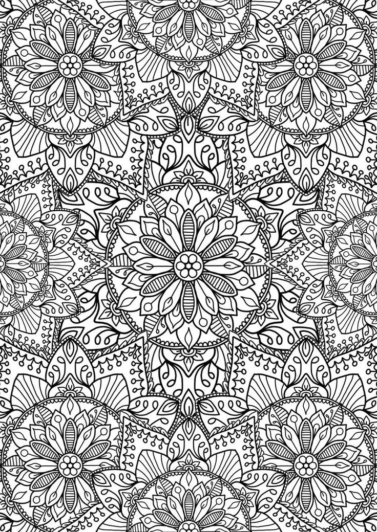 We really like this collection of flower mandalas Hope