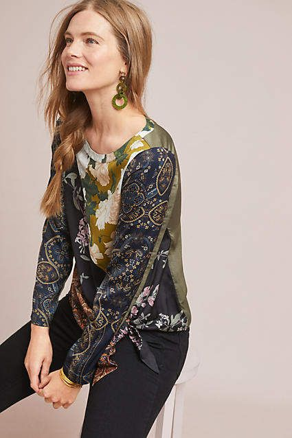 dfb1dc0814aa Tiny Patchwork Blooms Blouse #ad #AnthroFave #AnthroRegistry Anthropologie # Anthropologie #musthave #styleinspiration #ootd #newarrivals #outfitideas  ...