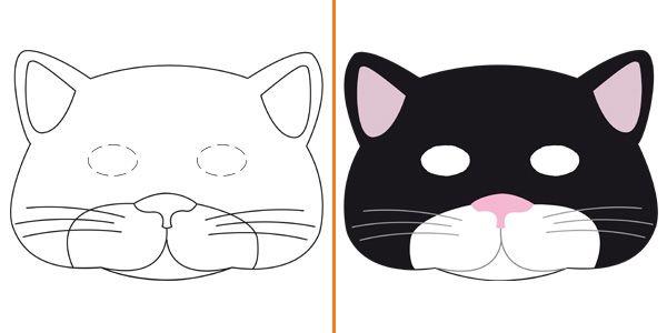 Oltre 25 fantastiche idee su disegno di gatto su pinterest for Maschere stampabili