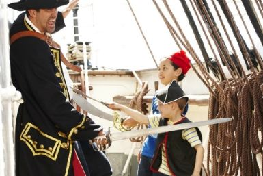 Scrub the deck and have fun with pirate games, arts and crafts on the heritage ship Polly Woodside.