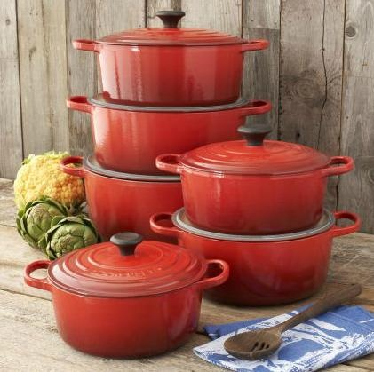 Create a patriotic table with Cherry or Marseille Le Creuset pieces sure to set a Team USA Theme.  http://www.surlatable.com/product/PRO-904607/Le-Creuset-Cherry-Round-French-Ovens
