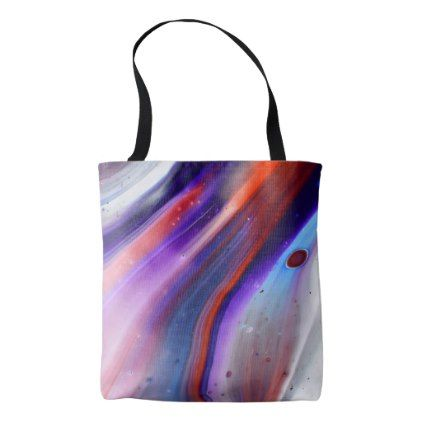 Colorful Marble Swirls Fluid Paint Red Blue Purple Tote Bag - marble gifts style stylish nature unique personalize