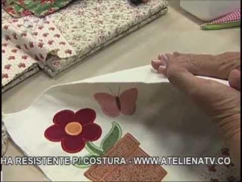 Atelie na TV aula de pintura no isopor e patchwork (jogo americano)