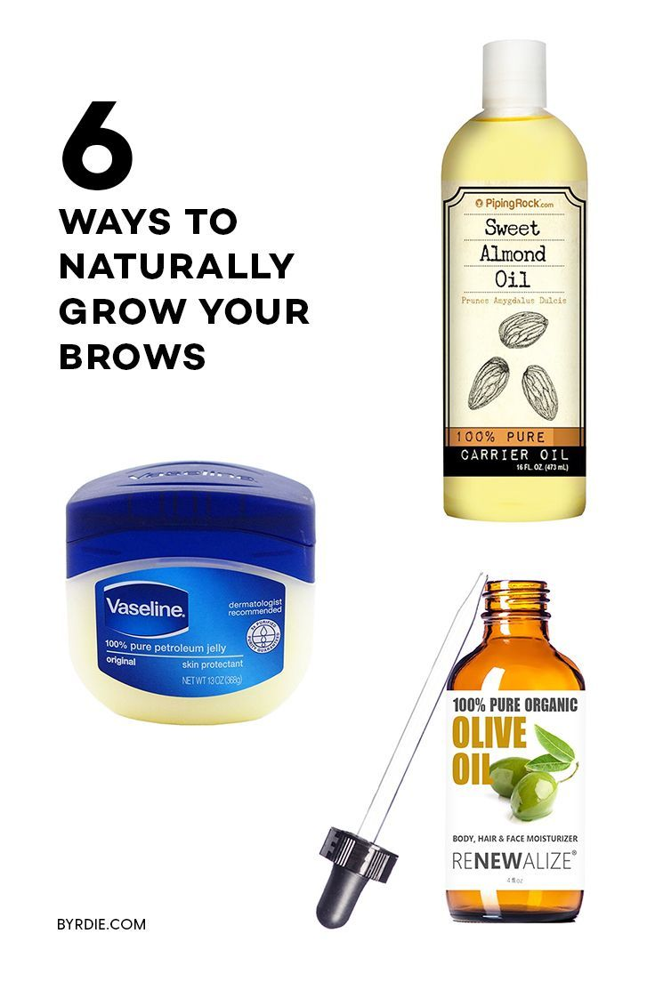 How to grow out your eyebrows with natural products