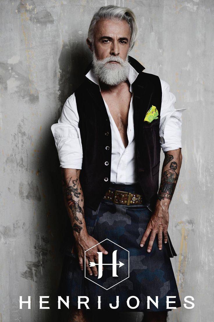 vest and jacket Henri Jones F/W 2016 by Enrico Posla  kilt: In Kilt