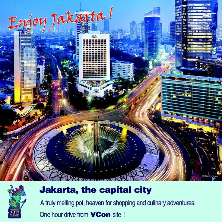 Enjoy Jakarta for shopping & culinary adventure. 1 hour drive from #VIND12 - experience #Indonesia