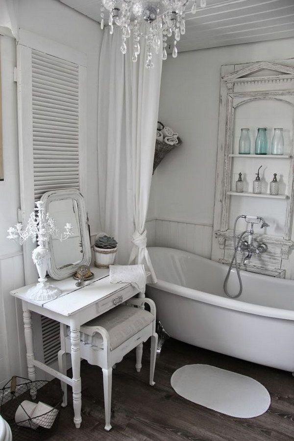 18 ideas adorables para un baño shabby chic