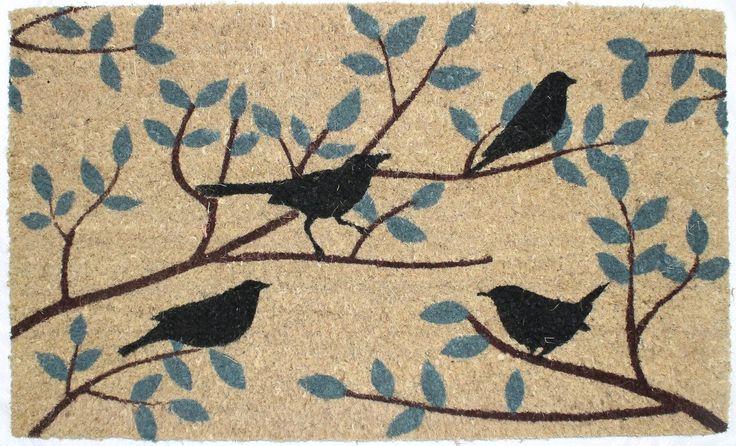 Make your home more inviting with printed contemporary doormat. Crafted of coir and fiber made from the husk of a coconut and this textural piece will keep the outdoors out and the indoors a little cleaner.