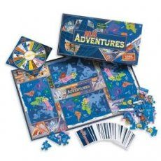 Atlas Adventures is a geography game where each player builds their own world map.  It has two levels of play so younger and older children can play together.
