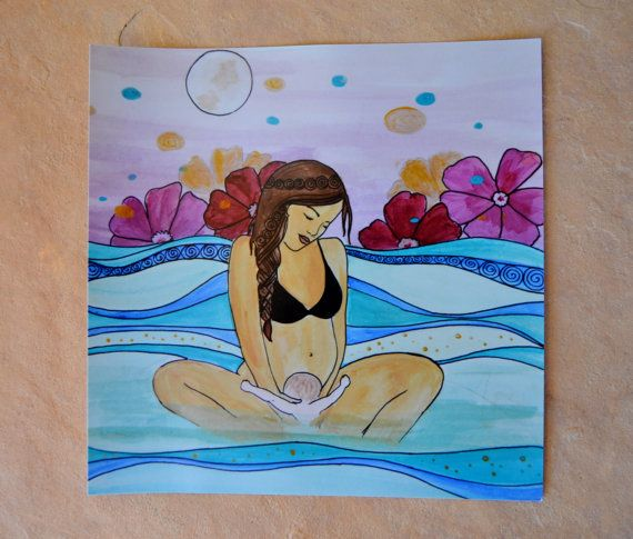 Hey, I found this really awesome Etsy listing at https://www.etsy.com/listing/242990406/waves-8-x-8-inspirational-art-birth-art