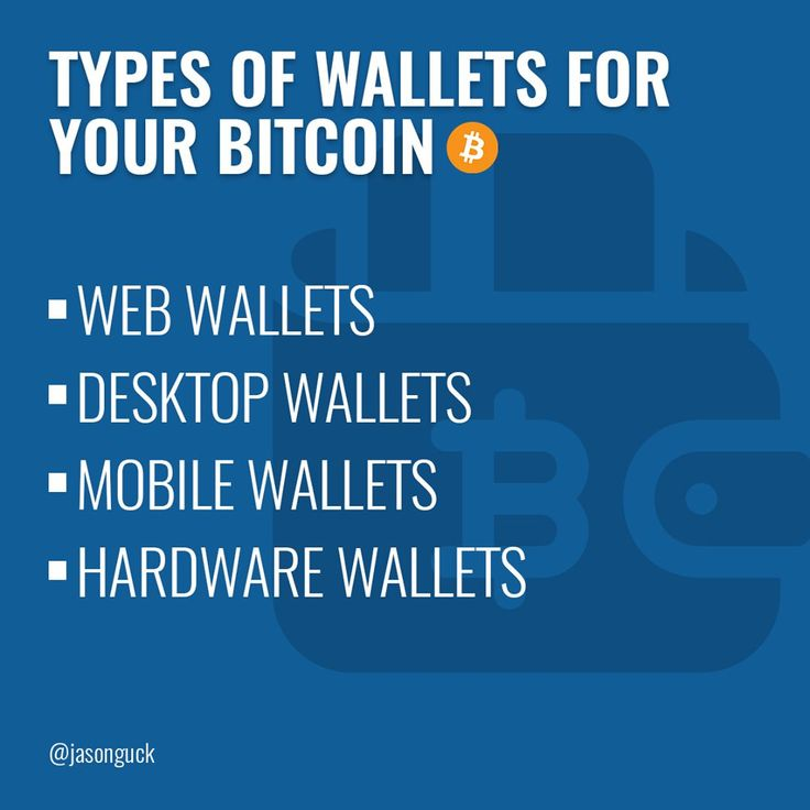 A Bitcoin wallet is a software program where Bitcoins are stored. Bitcoins are not stored anywhere; there is a private key (secret number) for every Bitcoin address that is saved in the Bitcoin wallet of the person who owns the balance. Bitcoin wallets facilitate sending and receiving Bitcoins and gives ownership of the Bitcoin balance to the user. The Bitcoin wallet comes in many forms, here some examples: •Jason Guck on cryptocurrency•