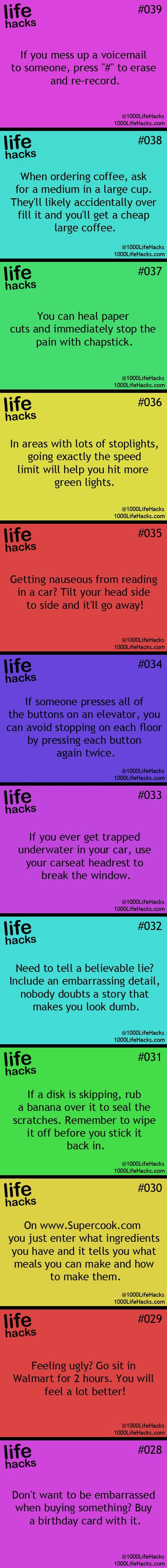 25 Useful Life Hacks, mostly just for first world problems:)