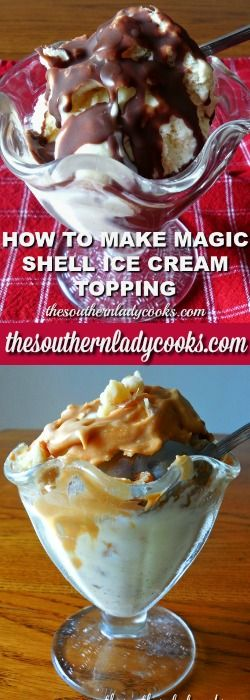 How to make your own Magic Shell ice cream topping. DIY and save money, only 2 ingredients. Great food hack.
