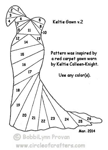 """March, 2014 Challenge: """"Keltie Gown"""" by BobbiLynn - Circle Of Crafters"""