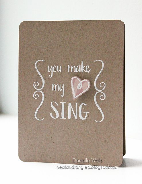 You Make My Heart Sing by Neat and Tangled, via Flickr