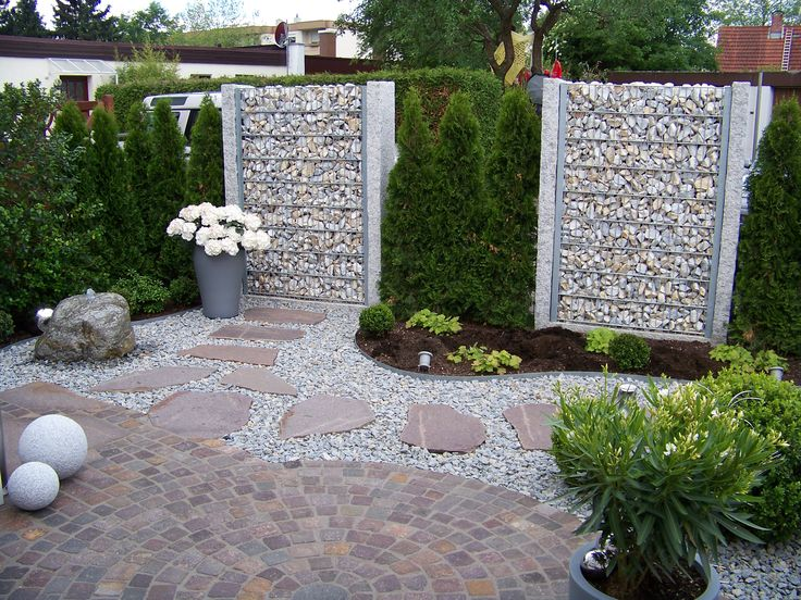 23 best images about Zaun on Pinterest Stone fence, Fence design