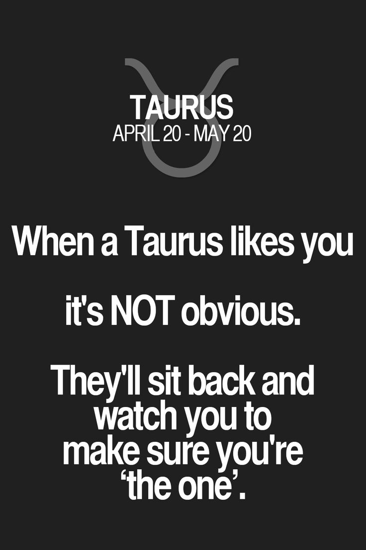 When a Taurus likes you it's NOT obvious. They'll sit back and watch you to make sure you're `the one'. Taurus | Taurus Quotes | Taurus Zodiac Signs