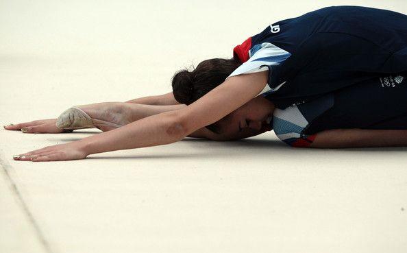 The Great Britain Rhythmic Gymnastics Team Prepare For The ...