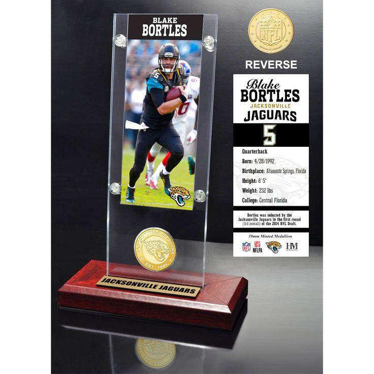 "Blake Bortles Jacksonville Jaguars Highland Mint 9.5"" x 3.5"" Player Ticket Acrylic - $31.99"