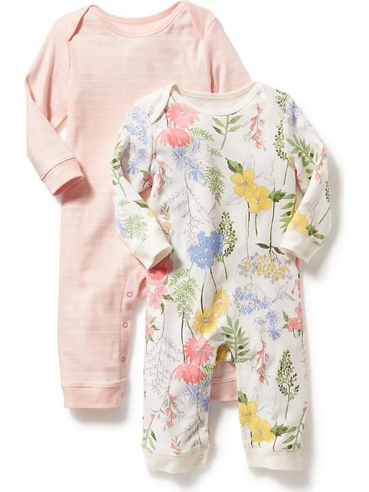 Patterned One-Piece Two-Pack for Baby