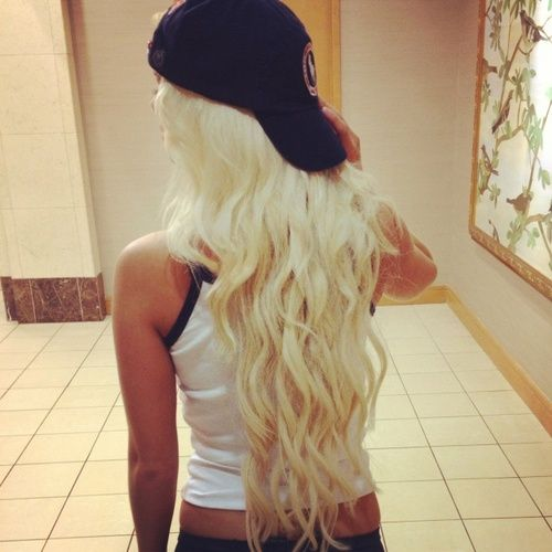 Long Platinum Blonde Hair