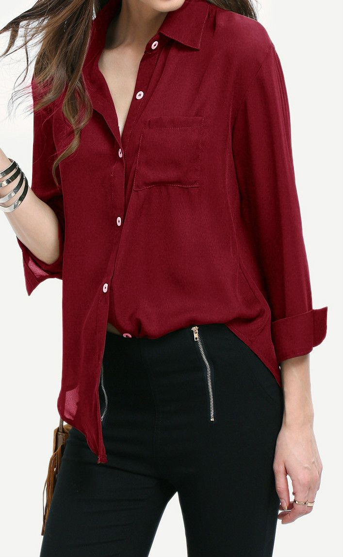 Solid Color Button Down Shirt is the perfect choice for daily casual. This is well-designed in comfortable fabric.