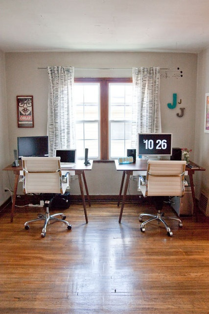 Home Office Dual Desk Setup: 1000+ Images About His And Her Office Space On Pinterest