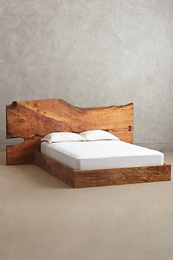 Live Edge Wood Queen Bed